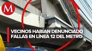 Irregularidades encontradas en la Línea12 del Metro de CdMx