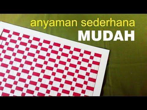 Cara MUDAH membuat ANYAMAN kertas SEDERHANA tipe 2.1