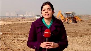 Progress of FNG Expressway in Noida