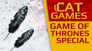 CAT GAMES - 🐁 Ice Mice! (Game of Thrones special) 4K 60FPS