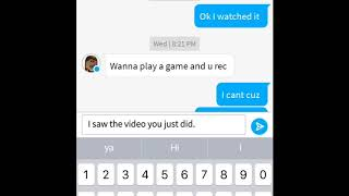 Texting on Roblox with Juliataken95
