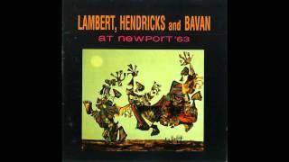 Dave Lambert, Jon Hendricks and Yolande Bavan (who had replaced Ann...