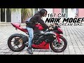 167 CM NAIK MOGE? | FIRST RIDE DREAM BIKE ZX6R