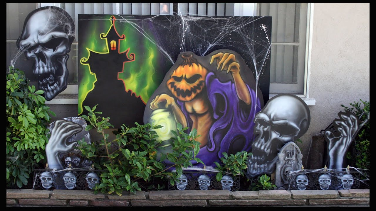 how to airbrush custom nightmare before christmas halloween decorations indooroutdoor - Nightmare Before Christmas Outdoor Halloween Decorations