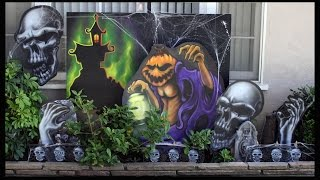 How To Airbrush Custom Nightmare Before Christmas Halloween Decorations Indoor/Outdoor