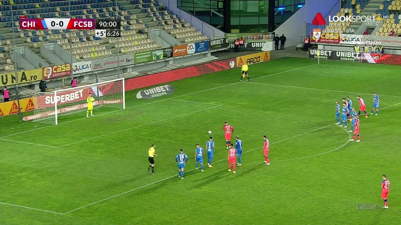 FCSB, victorie din penalty în minutul 90+7 cu Chindia