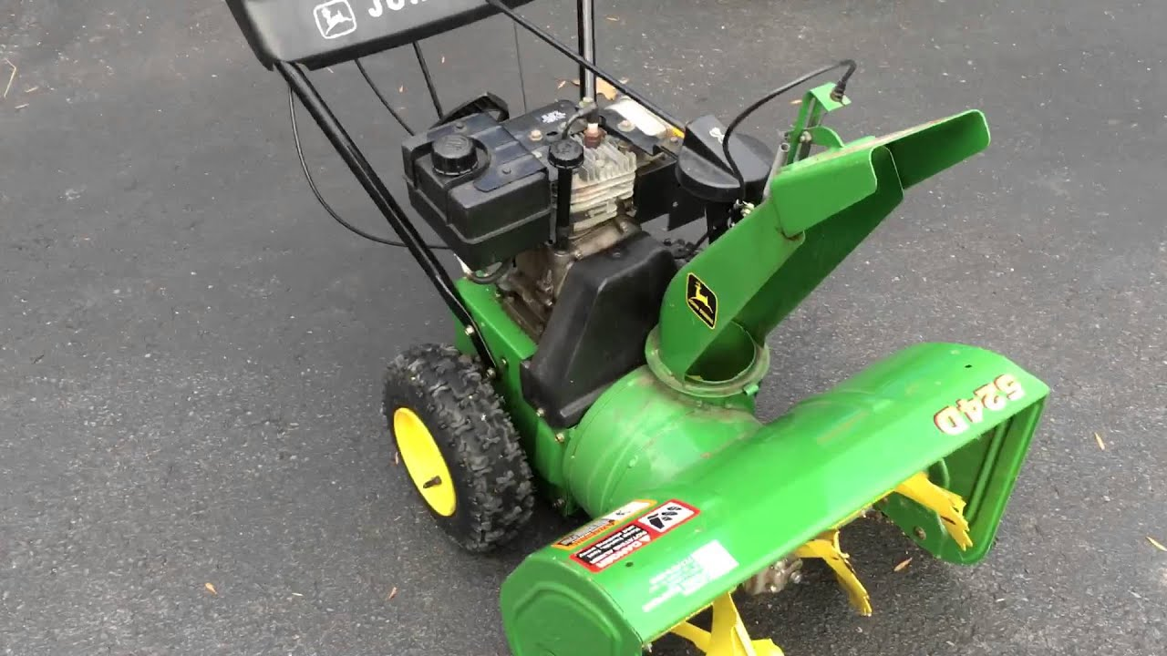 John Deere Walk Behind Snowblower