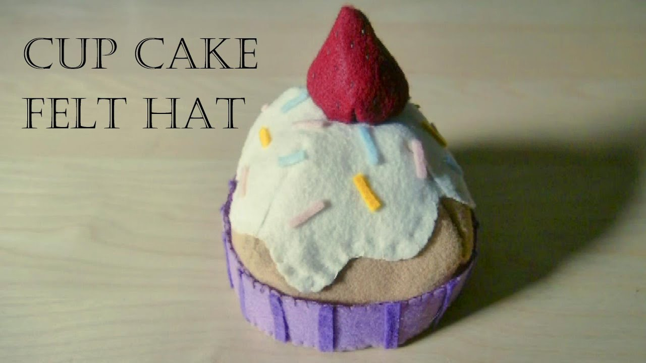 How to Make Cup Cake Felt Hat ( for a baby)