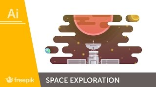 How to Create a Space Exploration Illustration in Adobe Illustrator - Andrei Stefan | Freepik