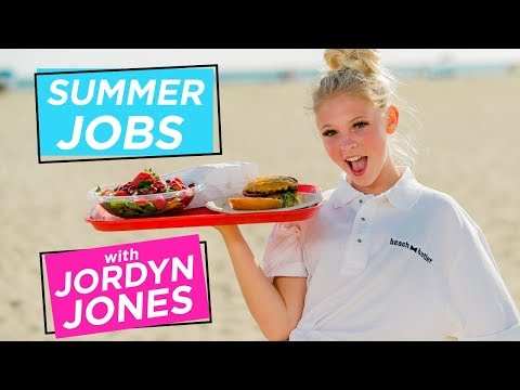 JORDYN JONES BEACH BURGER CHALLENGE | Summer Jobs w/ Jordyn Jones