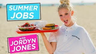 JORDYN JONES BEACH BURGER CHALLENGE | Summer Jobs w/ Jordyn Jones