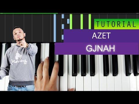 AZET - GJYNAH - Piano Tutorial / Karaoke + MIDI