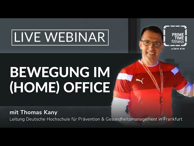 Training in Homeoffice Zeiten - Aktive Pausengestaltung