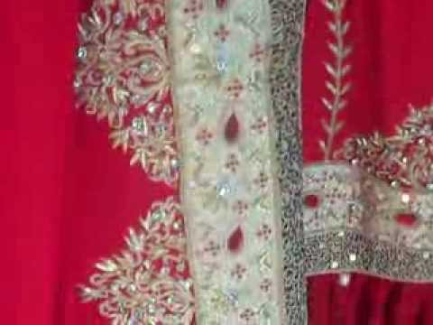 Red Bridal Gharara Hyderabadi Wedding Dresses Muslim