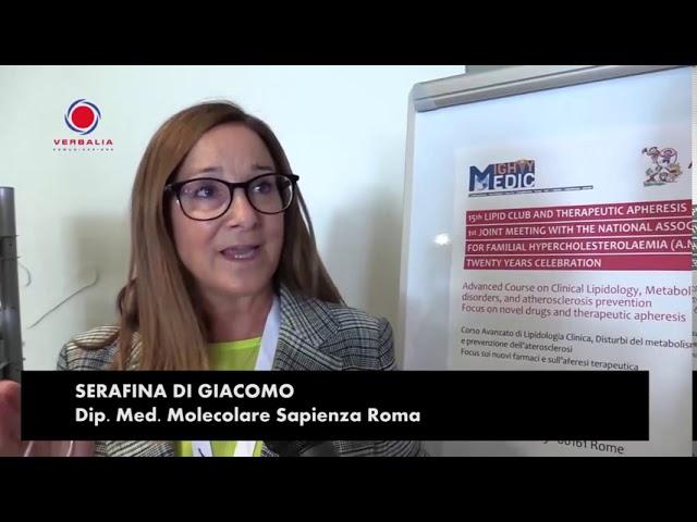 INTERVISTA A SERAFINA DI GIACOMO. 15th LIPID CLUB - IL CONGRESSO.  20° ANNIVERSARIO ANIF