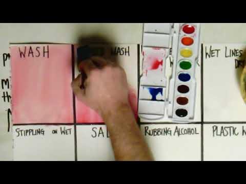 Watercolor Experiments: Graded Wash
