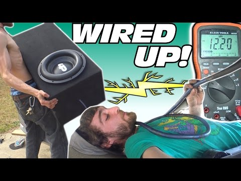Wiring CAR AUDIO System w/ 2nd Trunk Battery & Installing BASS Amplifier | Testing HOTEL Subwoofer