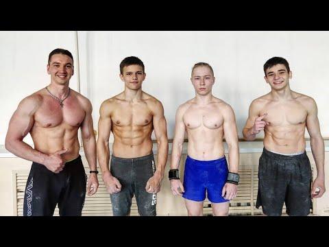 Заруба гимнастов по жиму лёжа