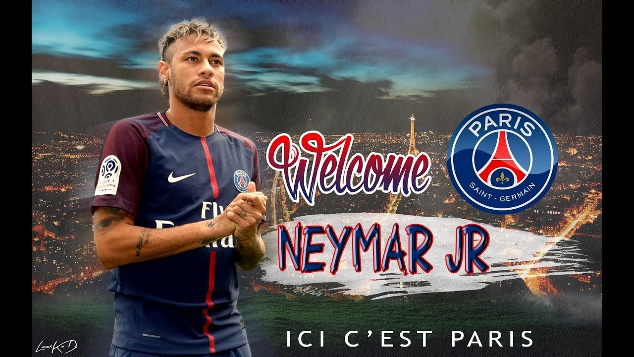 Photoshop Neymar Welcome To PSG Wallpaper PSD Speed Art