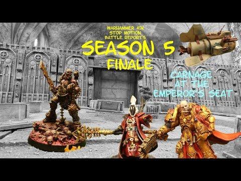 Warhammer 40k Stop Motion Battle Report Season 5 Finale DRUKHARI CHAOS ELDAR and the IMPERIUM