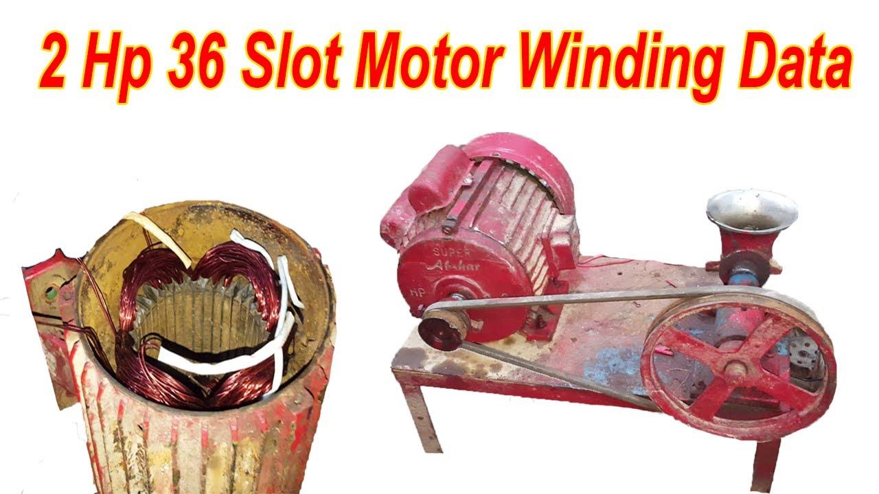 2 Hp Motor Winding Data / Running And Starting Capacitor ...