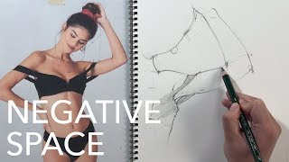 Figure Drawing Tutorial: Negative Space