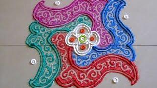 colorful 6 by 6 dots rangoli   creative rangoli designs by poonam borkar