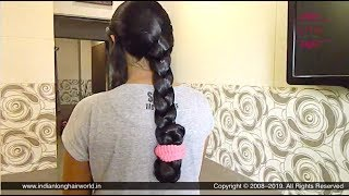 How to: Folded Braid For Extra Long Hair   Folded Braid for Rainy & Summer   Folded Braid Hairstyle