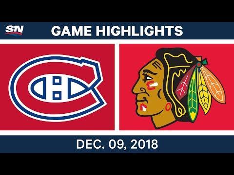 NHL Highlights | Canadiens vs. Blackhawks - Dec 9, 2018