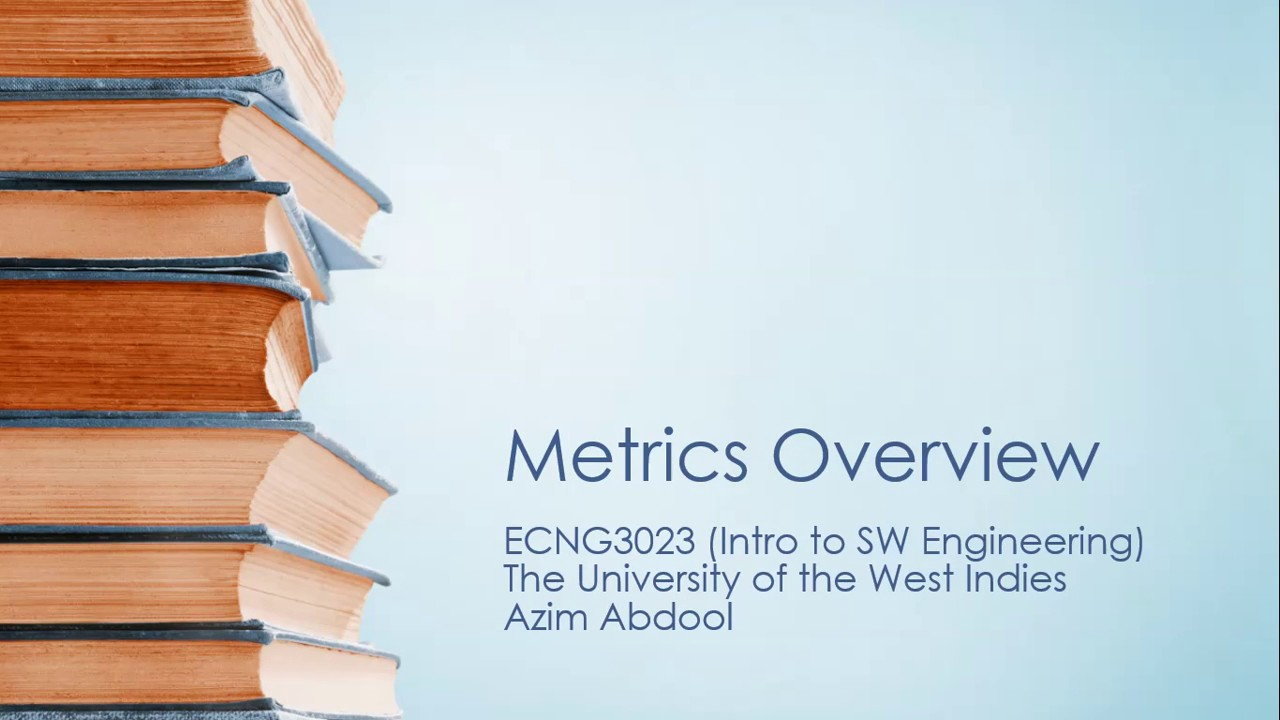 Overview of Software Metrics - YouTube
