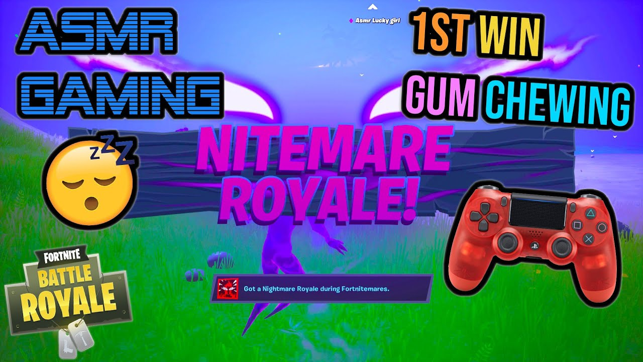 ASMR Gaming ? Fortnite Nitemare Royale Win Relaxing Gum Chewing ?? Controller Sounds + Whispering ?