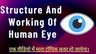 Structure And Working Of Human Eye In Hindi