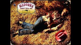 Madonna - Don't Tell Me (Lyrics)