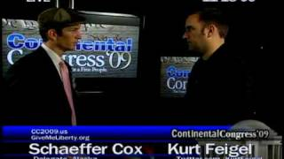 Schaeffer Cox Interview Part 3 Continental Congress cc2009