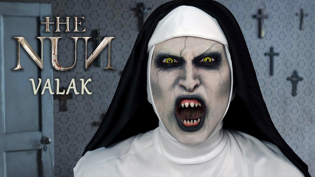 Valak The Nun Demon Halloween Makeup Agnieszka Grzelak Beauty