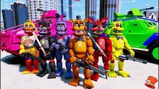 ROCKSTAR ANIMATRONIC CRIME FIGHTING SQUAD! (GTA 5 Mods For Kids FNAF RedHatter)