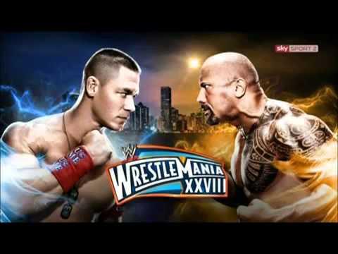 John cena vs the rock wrestle mania 28 (official theme song)