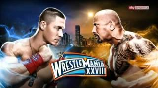 john cena vs the rock wrestle mania 28 (official theme song)