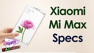 Xiaomi mi max fingerprint sensor launched specifications and more || pastimers