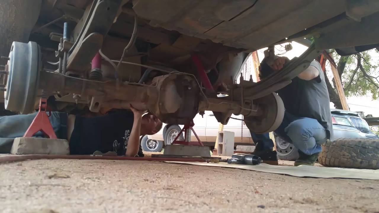 F-150 Rear End Swap and Dog caught breaking in