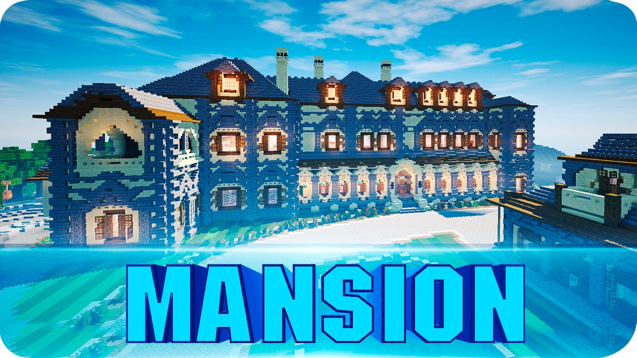 Minecraft Huge Mansion Cinematics Amp Walkthrough House