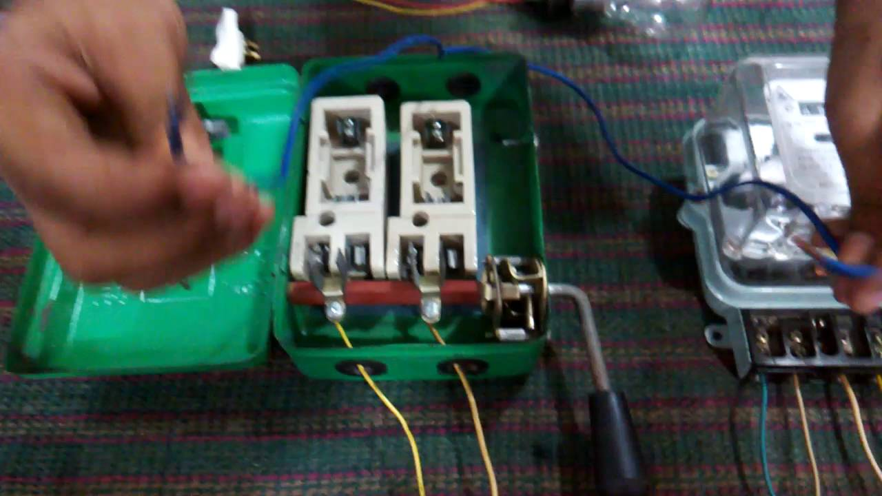 House Ac Wiring Diagram Meter And Main Switch Connection Youtube