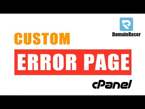Set Custom Error Pages in cPanel - 401, 403, 404, 500 Error