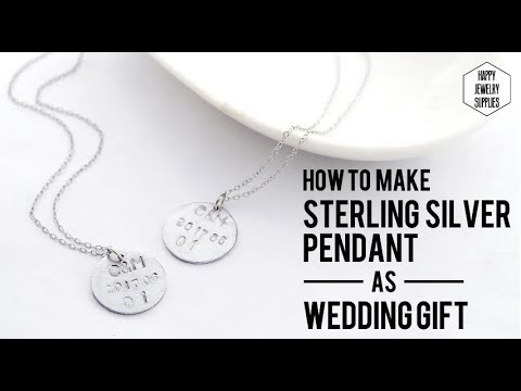 Diy tutorial how to make sterling silver pendant as wedding gift diy tutorial how to make sterling silver pendant as wedding giftwedding monogram initial disc mozeypictures Images