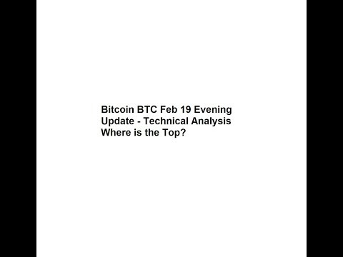 Bitcoin BTC Feb 19 Evening Update - Technical Analysis Where is the Top?