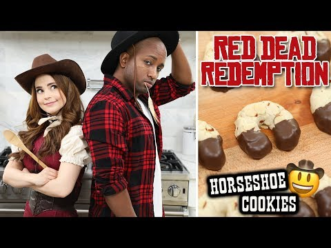 RED DEAD REDEMPTION HORSESHOE COOKIES ft sWooZie! – NERDY NUMMIES