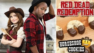 RED DEAD REDEMPTION HORSESHOE COOKIES ft sWooZie! - NERDY NUMMIES