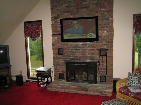 how to decorate a long living room with fireplace in the middle coffee table for narrow 2 inspiring mounting tv above ideas - youtube