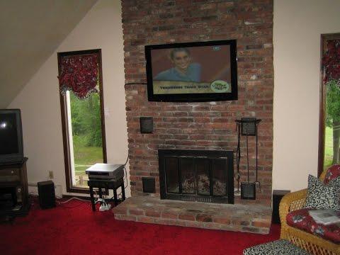 Inspiring Mounting Tv Above Fireplace Ideas Youtube