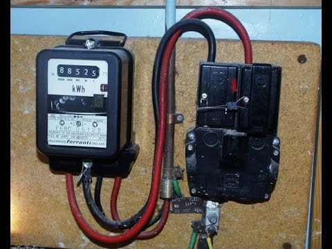 hqdefault how to wire single phase kwh energy meter conection youtube electric meter wiring diagrams at alyssarenee.co